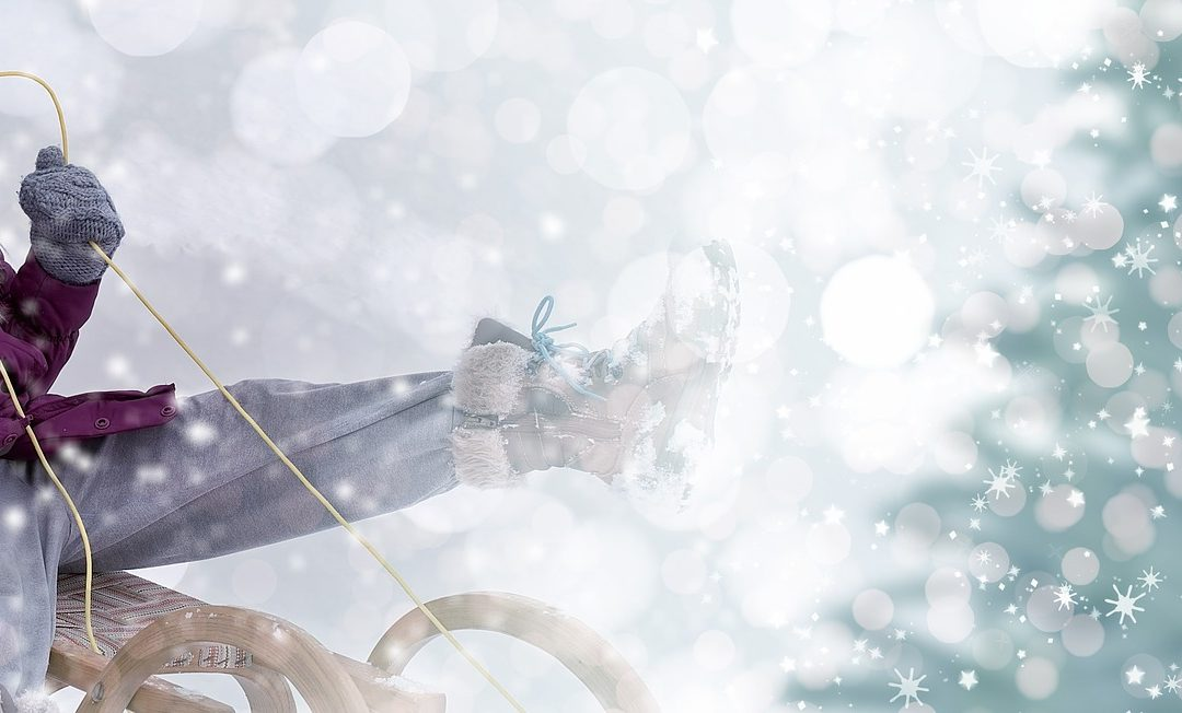 sledding winter feature image