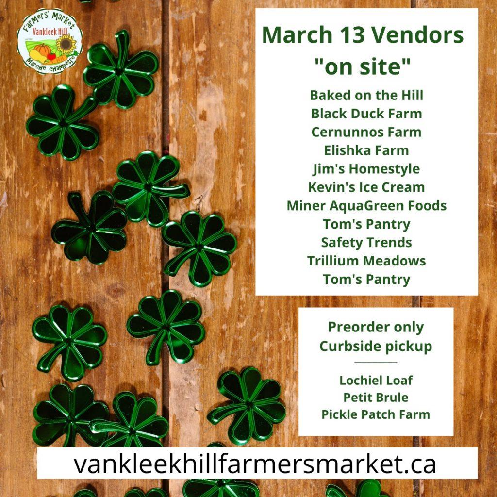 March 13 canva vendor list